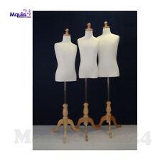 Set of Kid Dress Body Form Mannequins Size 7-8, 9-10, 11-12T Child Torso Display