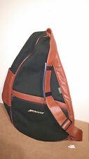 Orvis Mercury Back Pack Sling Bag Green Tan Leather Ameribag Healthy Back USA