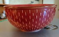 "Set of 2: Ruff Hewn Stitch Brick Red Cereal/Soup Bowl 5 7/8"" Inch Discont. L@@K!"