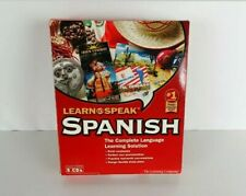 The Learning Company -Learn to Speak Spanish Complete  Set of 5 CDs and workbook