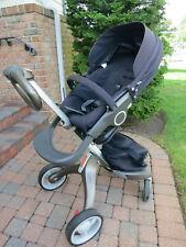 Stokke Xplory v3 Stroller Black Excellent Pre Owned
