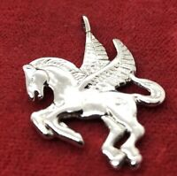 Vintage Sterling Silver Necklace 925 Pendant Horse Unicorn
