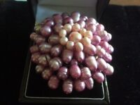 GENUINE FRESH WATER PEARL BROOCH LILAC PINK SHADES
