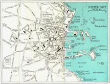 CHANNEL ISLES. St Peter Port 1964 old vintage map plan chart