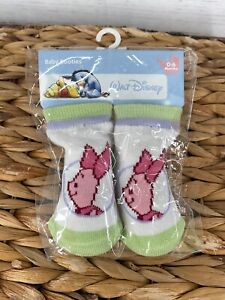 Walt Disney Winnie the Pooh Piglet Baby Booties Boy Girl Unisex 0-6 Months NEW