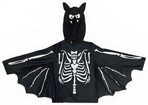 Boys Girls Bat Cape Fancy Dress Costume Outfit Halloween World Book Day 4-10 Yrs