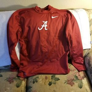 ALABAMA CRIMSON TIDE PERFORMANCE SHIRT - LARGE - NIKE PRO COMBAT - FITTED