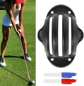 UK Golf Ball Triple Track 3 Line Marker Golf Ball Marker Tool with 2 pens