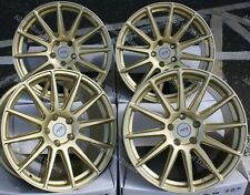 "ALLOY WHEELS X 4 18"" GOLD AYR 02 FOR SUBARU IMPREZA 2.0 WRX STi AWD 5x114"