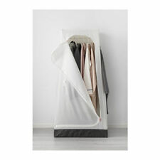 VUKU WARDROBE FREE STANDING LIGHTWEIGHT ZIPPED WHITE EASY CLEAN FABRIC STORABLE