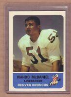 WAHOO MCDANIEL DENVER BRONCOS AFL CUSTOM BY BOB LEMKE '62 STYLE