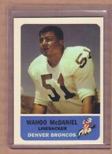 Wahoo McDaniel Denver Broncos AFL custom card by Bob Lemke 1962 Fleer style #89