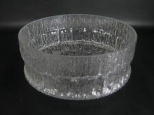 Iittala Glas Schale Serie Paadar Tapio Wirkkala Design Glass Bowl ca. 23cm