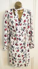 🌷NEW ASOS Fashion Union Plus Size 20 White Floral Wrap Chiffon Dress BNWT