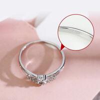 Women Girld Small Crystal Rhinestone Ring Fashion Engagement Jewelry Gift WE