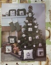 ANTIQUE NOEL CHRISTMAS ORNAMENTS CROSS STITCH PATTERN FREE SHIPPING