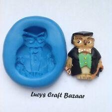 Stampo in silicone graduazione Wise Owl exams PASS Mortaio Board Sugarcraft CAKE GHIACCIO