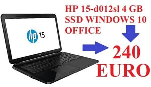 "Notebook HP 255 4 gb windows 10 webcam office ati radeon  15,6"" AMD E1-ssd"