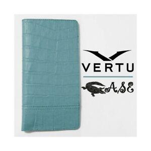 Case Vertu Constellation X Light Blue Alligator Case Original Accessories