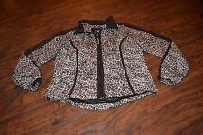 B7- Ac-tiv-ology Brown Full Zip Jacket Size Petite Small