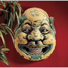 Chinese Opera Wei Chi Gong Sculptural Wall Mask Tang Dynasty Replica
