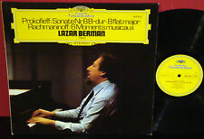 LAZAR BERMAN Prokofieff / Rachmaninoff  DGG LP GERMAN PRESS