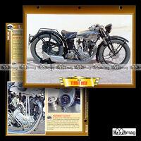 #108.09 Fiche Moto TERROT 350 HSSE 1931-1932 Classic Bike Motorcycle Card