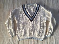 70s 80s Vintage Casual Corner Deep V-neck Chunky Knit Sweater Size Xl