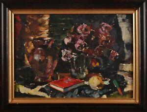 Oil painting, original still life in a frame, Glushchenko V.P. Impressionism