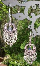 Dream catcher earrings crystal boho spiritual dangle chandelier