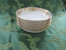 Noritake Christmas Ball 175  Porcelain Set of 7 Coupe Soup Cereal Bowls