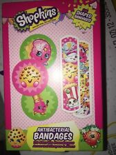 Children's Band Aids Shopkins Fun Shaped  Bandages 20 In Box Kids 5 Different