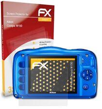 atFoliX 3x Screen Protector voor Nikon Coolpix W150 mat&schokbestendig