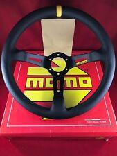 MOMO Mod 08 350MM Black Leather Black Stitch Deep Dish Steering Wheel  R1908/35L
