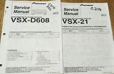 PIONEER VSX-D608 VSX-21 AUDIO/VIDEO RECEIVER ORIGINAL SERVICE REPAIR MANUAL