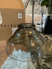 POTTERY BARN VINTAGE GLASS HOOD SHADE CLEAR New And Boxed