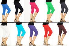 Children's Girl's Trousers Leggings Leggings Capri 3/4 Knee short Cotton opaque