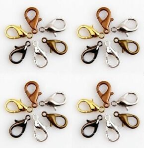 5-25x Parrot  Claw Lobster Clasps Hook Clip Toggle Alloy 10mm 12mm 14mm 16mm
