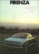 Vauxhall Firenza 1971-72 UK Market Sales Brochure 1159 1600 2000 De Luxe SL