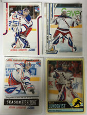 6 Henrik Lundqvist Cards 2011-12 Score #25 & #319, 2012-13 UD - New York Rangers