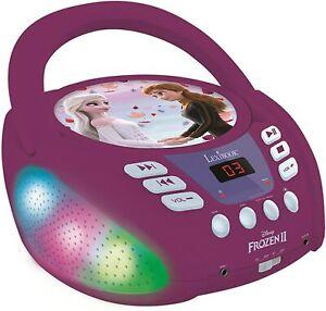 Lexibook RCD109FZ Disney Frozen 2 Bluetooth CD Player für Kinder Lichteffekte