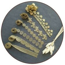 Gold Lace Trimmings Ribbon Sew Craft Edging DIY Accessory Floral Embroidery