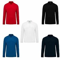 NEW MENS POLO SHIRT LONGE SLEEVE POLO PIQUE SHIRTS PREMIUM SIZE CASUAL SHIRTS-XL