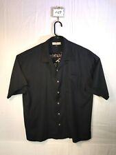 Men's XL Tommy Bahama Hawaiian 100% Silk BIKINITINI Embroidered Black Shirt