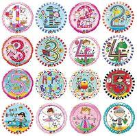 "18"" Foil Balloons Qualatex - Kids Birthday Age 1-5 + General RACHEL ELLEN Design"