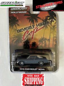 GREENLIGHT #44870 1:64 Beverly Hills Cop 1970 Chevy Nova Eddie Murphy Hollywood