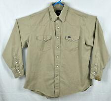 Wrangler Snap Front  Denim  Western Shirt Size 17.5 (2XL)