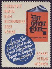 """Werbemarke Zeitschrift """"Der getreue Eckart"""" Eckart-Verlag Adolf Luser, Wien"""