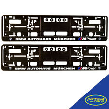 BMW Autohaus | M Power | Number Plate Surround x2