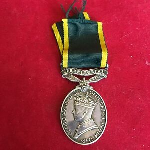 WW2 Efficiency Medal Efficient Service Sergeant L V Carbery Royal Artillery